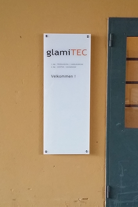 laminert skilt glamitec